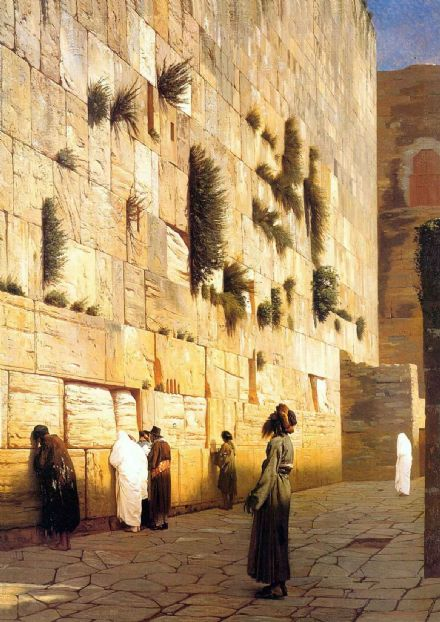 Gerome, Jean Leon: Solomon's Wall, Jerusalem. Fine Art Print/Poster. Sizes: A4/A3/A2/A1 (002840)